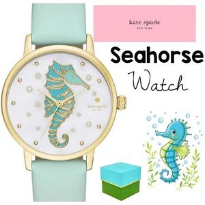 Kate Spade ♠️ Rare Seahorse Pearl Watch with Box